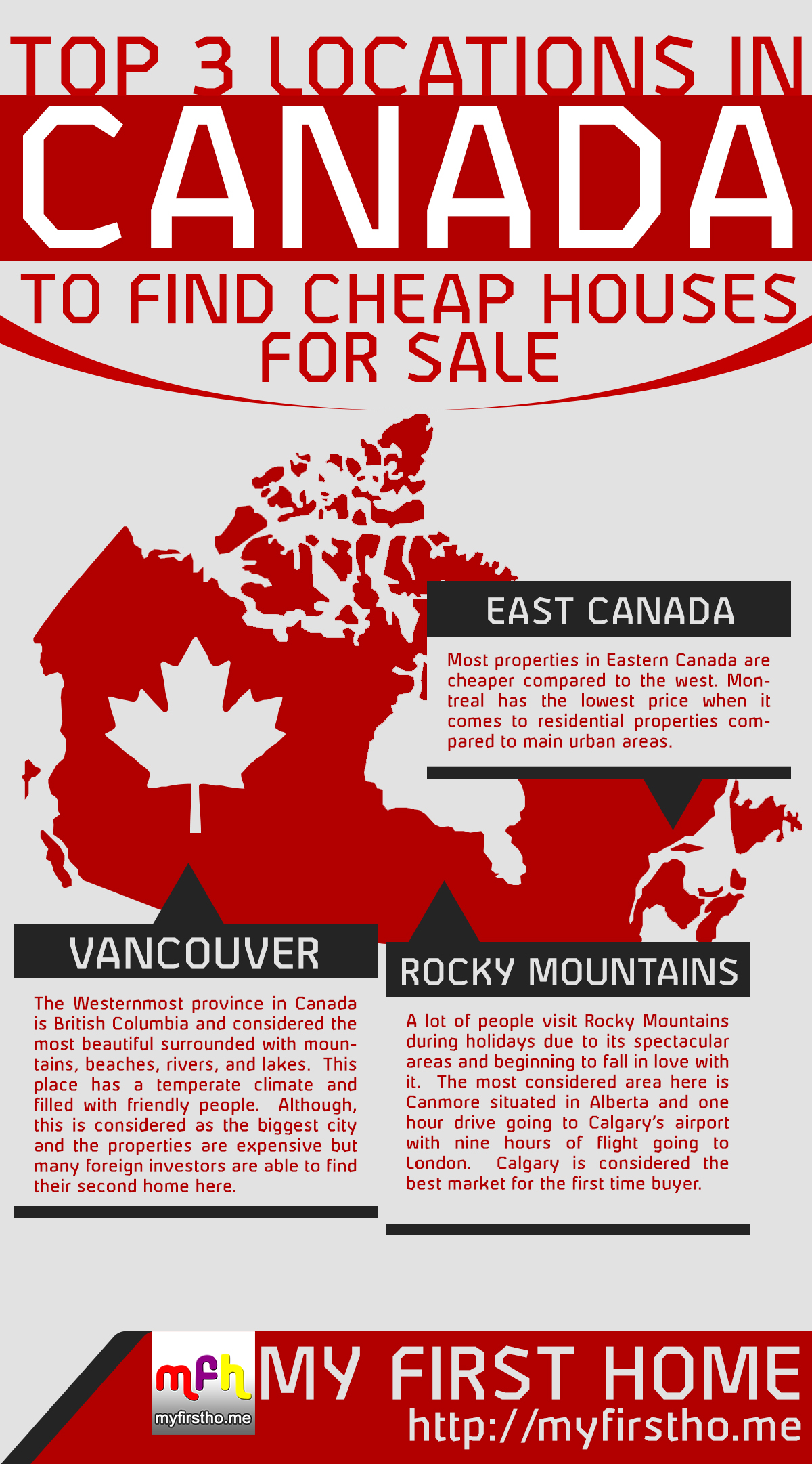 top 3 locations in canada to find cheap houses for sale my first
